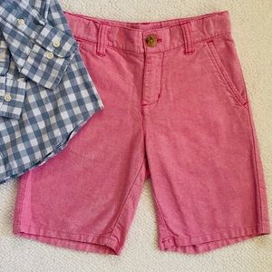 Boys Preppy Summer Shorts Pink Janie And Jack 5